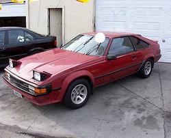 Maroon 1985 Toyota Supra