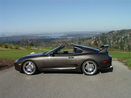 Anthracite Metallic Bronze Brown 1993 Toyota Supra